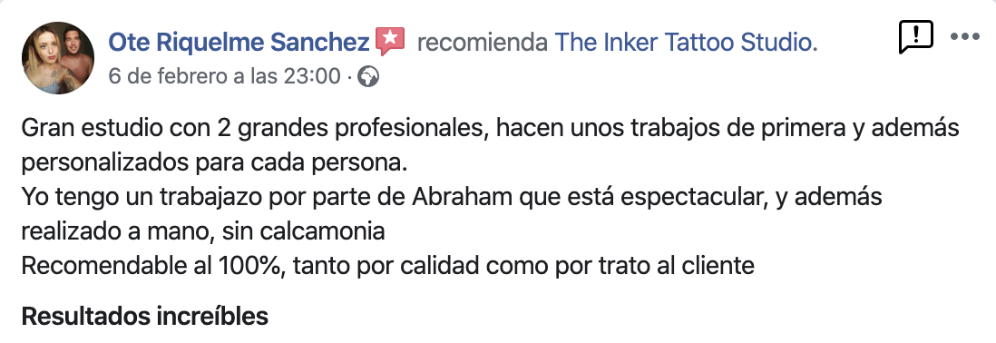 Opinion cliente the inker